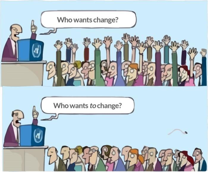Als veranderingen niet van de grond komen